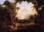 the gardenn of eden by thomas cole painting