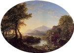 thomas cole the old mill at sunset oil painting
