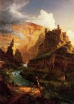 valley of the vaucluse by thomas cole painting