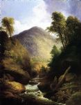 at the waterfall by thomas doughty painting