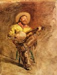 cowboy singing by thomas eakins painting
