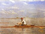 thomas eakins john biglin in a single scull painting