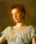 portrait paintings - portrait of alice kurtz by thomas eakins