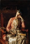 portrait paintings - portrait of amelia c van buren by thomas eakins