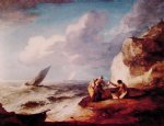 thomas gainsborough a rocky coastal scene oil paintings