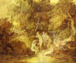 diana and actaeon by thomas gainsborough painting