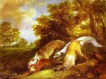 thomas gainsborough dogs chasing a fox painting 24502