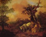 thomas gainsborough landscape with a woodcutter and milkmaid painting 24505