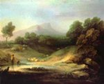 thomas gainsborough mountain landscape with shepherd painting 24515