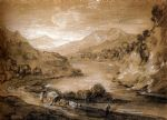 thomas gainsborough mountainous landscape with cart and figures prints