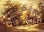 thomas gainsborough wooded landscape with a waggon in the shade painting 24582