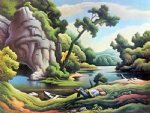 cave spring by thomas hart benton paintings-24489