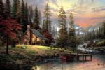 thomas kinkade a peaceful retreat oil painting