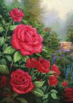 thomas kinkade a perfect red rose painting 77302