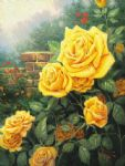 thomas kinkade a perfect yellow rose painting 77304