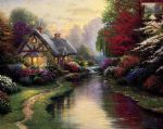 a quiet evening by thomas kinkade painting