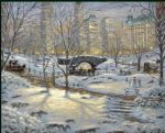 thomas kinkade a winter s eve painting-77416