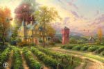 abundant harvest by thomas kinkade painting