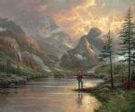 almost heaven by thomas kinkade painting