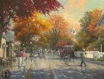thomas kinkade autumn on mackinac island painting