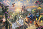 thomas kinkade beauty and the beast falling in love painting-85929