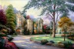 thomas kinkade beyond summer gate paintings