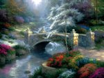thomas kinkade bridge of hope painting