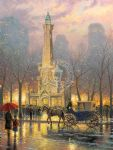 chicago water tower by thomas kinkade painting