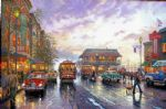 city by the bay by thomas kinkade painting