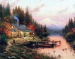 thomas kinkade end of a perfect day oil painting