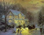 thomas kinkade home for the holidays paintings