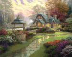 make a wish cottage by thomas kinkade painting