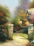 thomas kinkade rose gate painting 82173