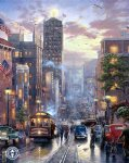 thomas kinkade san francisco powell street painting
