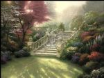 thomas kinkade stairway to paradise oil paintings
