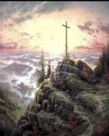 thomas kinkade sunrise oil painting