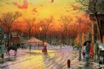 thomas kinkade town square painting