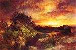 thomas moran an arizona sunset near the grand canyon oil painting