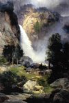 cascade falls yosemite by thomas moran painting