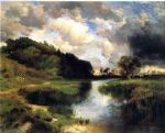 thomas moran cloudy day at amagansett prints