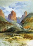 colburn s butte south utah by thomas moran painting
