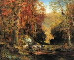 thomas moran cresheim glen wissahickon autumn paintings