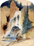 thomas moran crystal falls painting