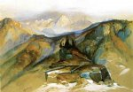 thomas moran distant peaks painting