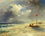 beach paintings - east hampton beach by thomas moran