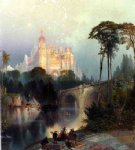 thomas moran fantastic landscape oil painting