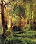 thomas moran forest scene painting