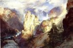 landscape by thomas moran painting