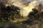 long island landscape by thomas moran painting