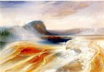 lower geyser basin by thomas moran painting